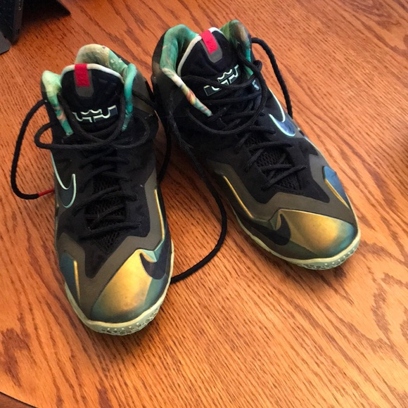 cheap for discount ba0eb e07d5 Lebron James custom Nike's